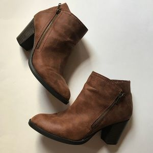 Brown rampage Booties Size 10